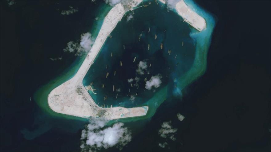 Las islas Spratly en el mar del Sur de China.