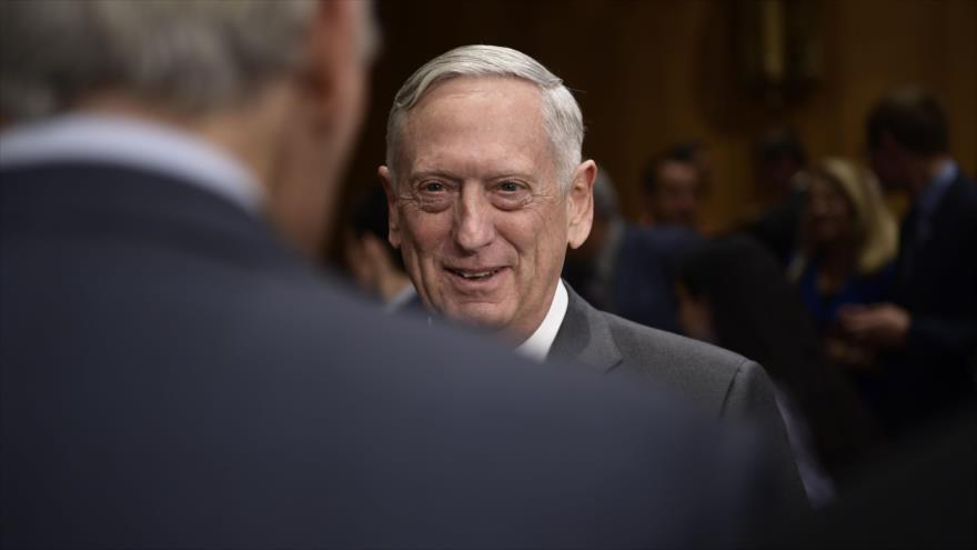 El secretario de Defensa de EE.UU., James Mattis, durante una audiencia en Washington DC, 30 de octubre de 2017.
