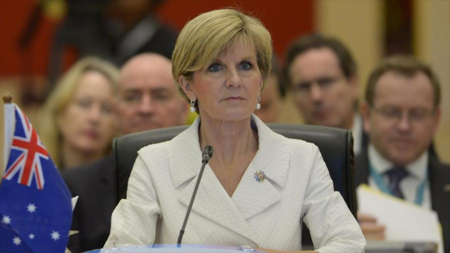 La canciller australiana, Julie Bishop.