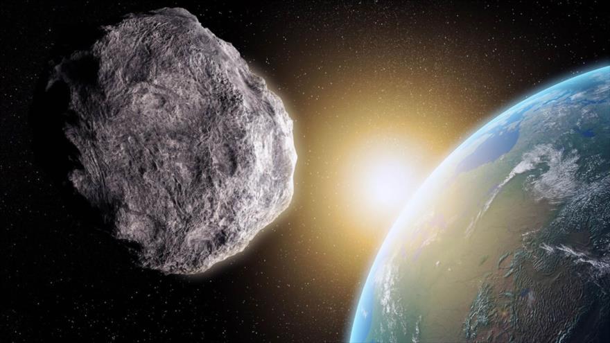 Reconstrucción de un asteroide que pasa junto a la Tierra.