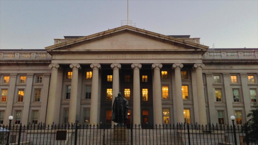 Sede del Departamento del Tesoro de Estados Unidos, en Washington, la capital.