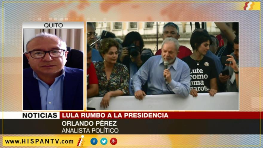 'Temer intenta anular posibilidad la victoria electoral de Lula'