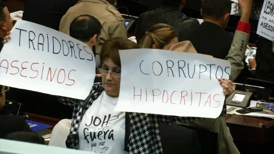 En medio de protestas, se instala nuevo Congreso Nacional en Honduras
