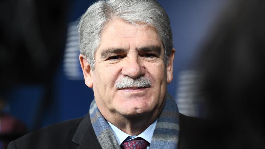 El canciller español, Alfonso Dastis, a su llegada al consejo de ministros de Exteriores de la UE celebrado en Bruselas (Bélgica), 22 de enero de 2018.