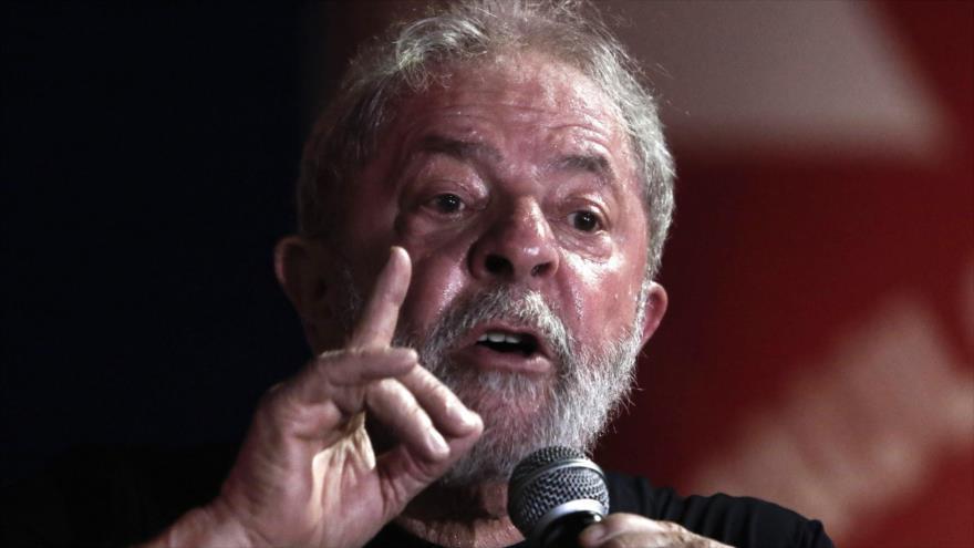 El expresidente brasileño Luiz Inácio Lula da Silva en una manifestación en su apoyo en Sao Paulo, 24 de enero de 2018