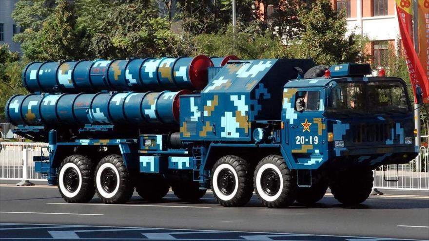 Sistema de misiles de defensa aérea HQ-9 de China.