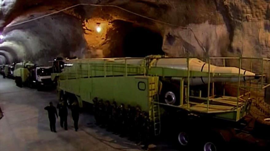 Imagen de una base subterránea de misiles del Cuerpo de los Guardianes de la Revolución Islámica (CGRI) a una profundidad de 500 metros.