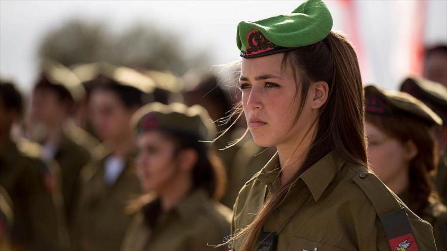 Las mujeres soldados del ejército de Israel en una ceremonia de juramentación.