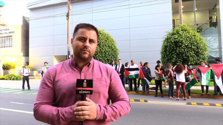 Palestinos en Perú toman calles para pedir libertad de Ahed Tamimi | HISPANTV