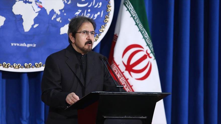 El portavoz de la Cancillería de Irán, Bahram Qasemi, en una rueda de prensa.