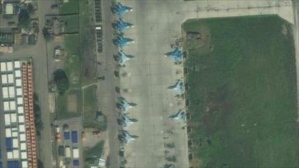 Imágenes satelitales revelan ubicación de cazas rusos en Siria