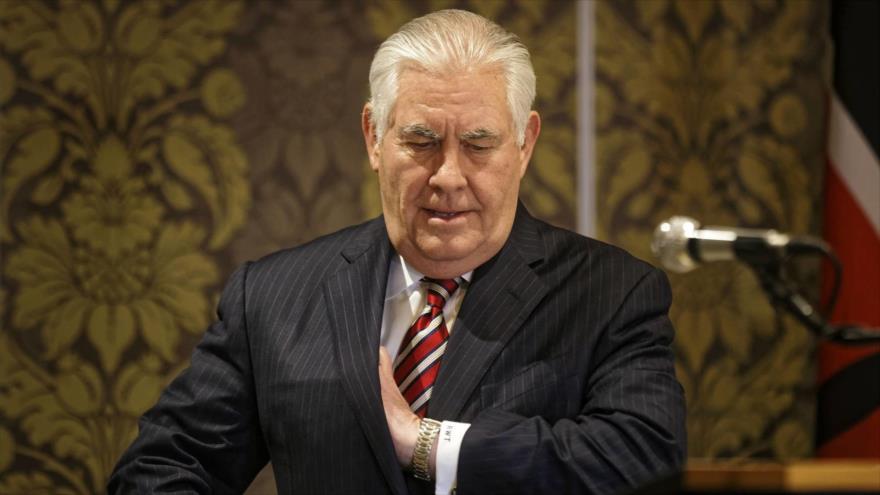 El recién destituido secretario de Estado estadounidense, Rex Wayne Tillerson.