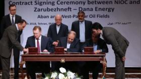 Irán y Rusia firman acuerdo para desarrollar 2 campos de petróleo
