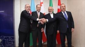 Irán, Turquía, Azerbaiyán y Georgia ofician 1ª junta cuadrilateral
