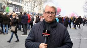 Pensionistas franceses marchan contra políticas del Gobierno