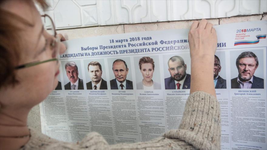 Comienza la votación para las presidenciales de Rusia
