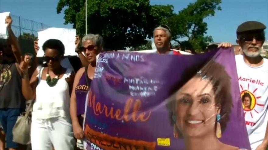 Brasileños piden justicia por asesinato de Marielle Franco