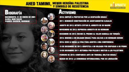 Conozca a la menor palestina símbolo de valentía y resistencia