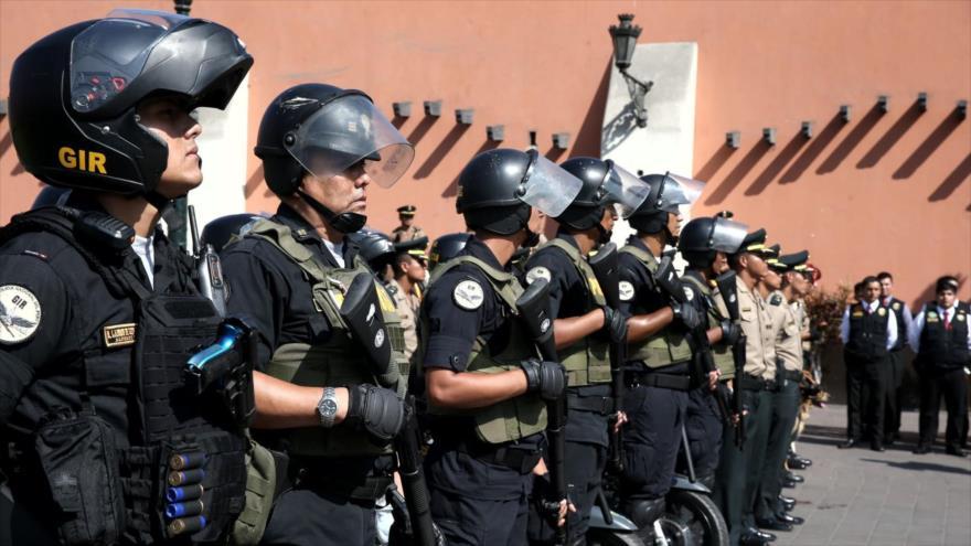 Efectivos de la Policía Nacional de Perú (PNP).