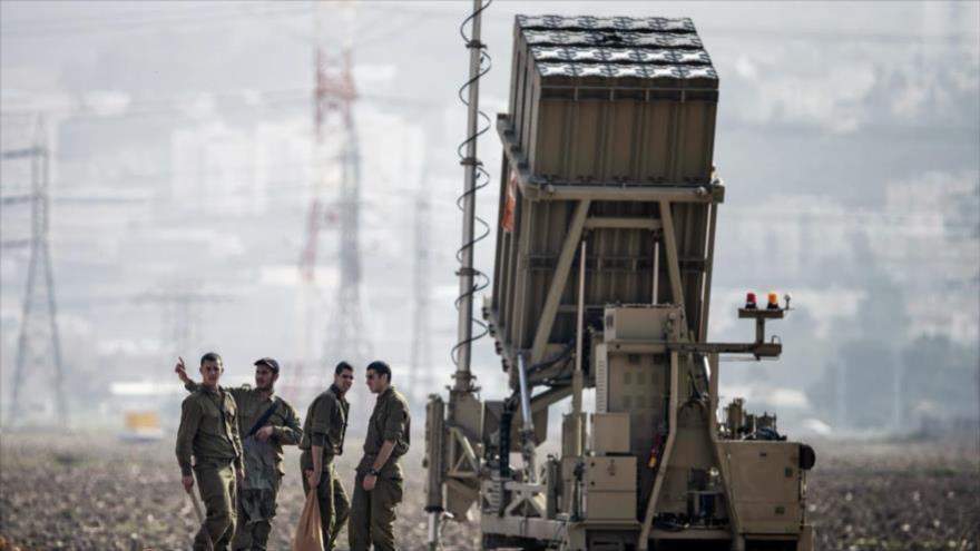 Batería antimisiles israelí en la frontera con la Franja de Gaza.