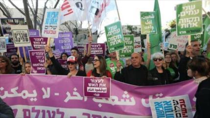Vídeo: Activistas protestan en Tel Aviv contra la masacre en Gaza