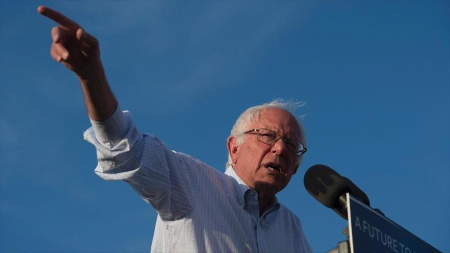 El precandidato demócrata a la Presidencia de EE.UU. Bernie Sanders.