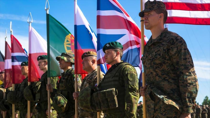 Soldados de los países miembros de la OTAN durante unos ejercicios bautizados como Saber Strike en Lituania.
