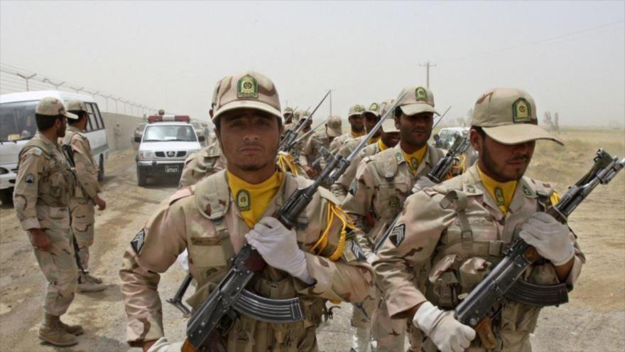 Guardias fronterizos de Irán en las fronteras surorientales del país.