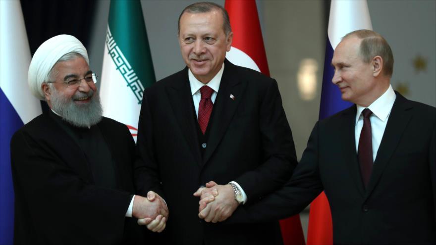 Rusia, Turquía e Irán refuerzan alianza contra terrorismo en Siria
