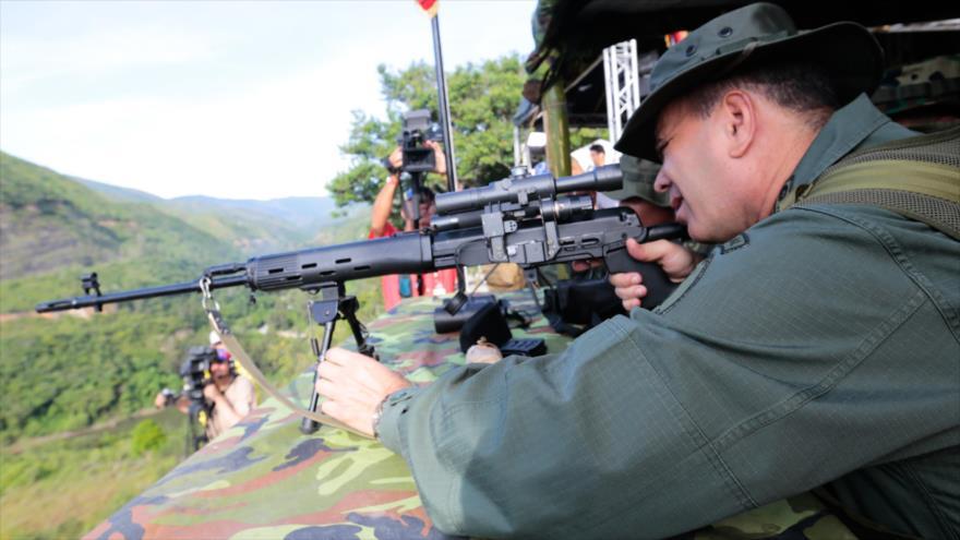 El ministro de Defensa venezolano, Vladimir Padrino López, durante el ejercicio militar Soberanía Bolivariana en Caracas, 26 de agosto de 2017.
