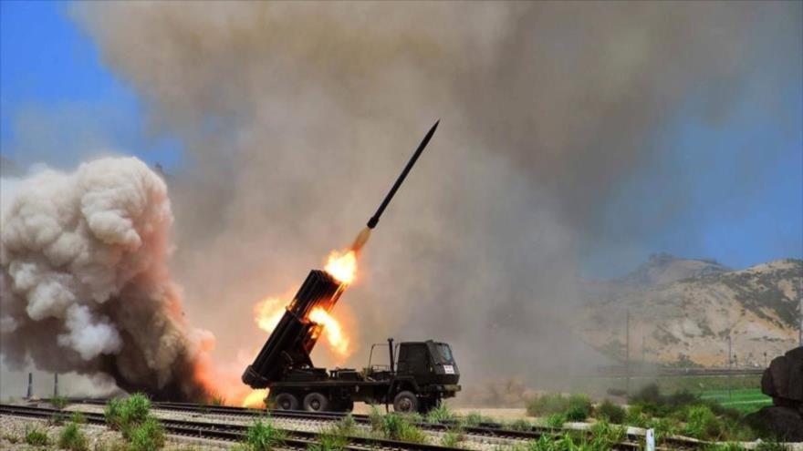 El momento del lanzamiento de un misil balístico en Corea del Norte.