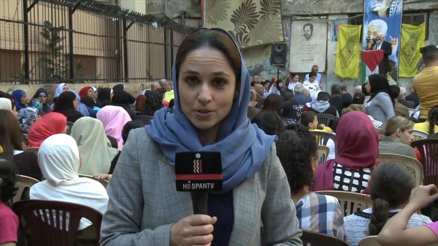 Palestinos en El Líbano rechazan atrocidades israelíes en Gaza