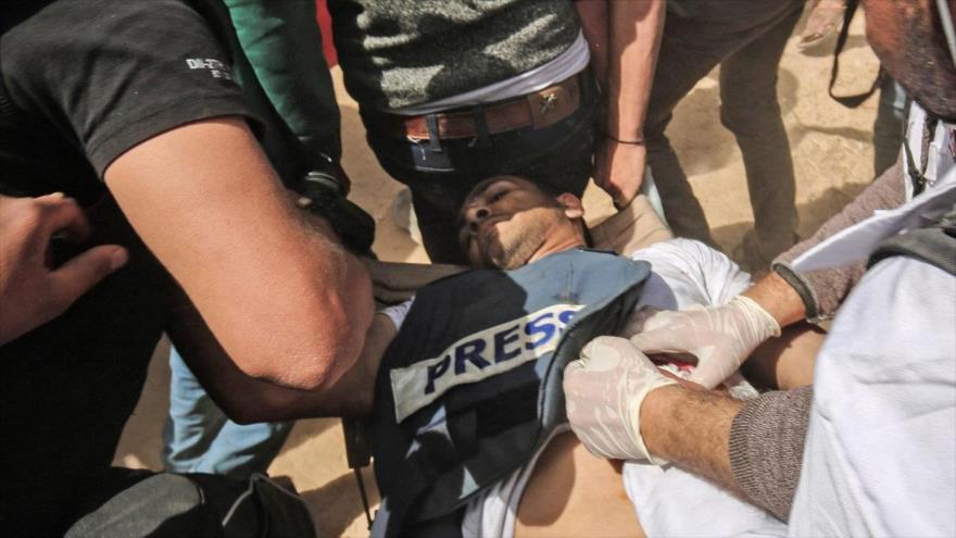 Muere periodista palestino herido por fuerzas israelíes en Gaza