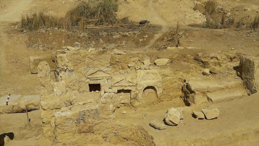 Templo grecorromano hallado cerca del oasis de Siwa, a 500 kilómetros al oeste de El Cairo, capital egipcio.