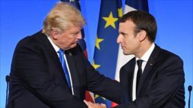 Trump y Macron prometen respuesta firme a ataque químico en Siria