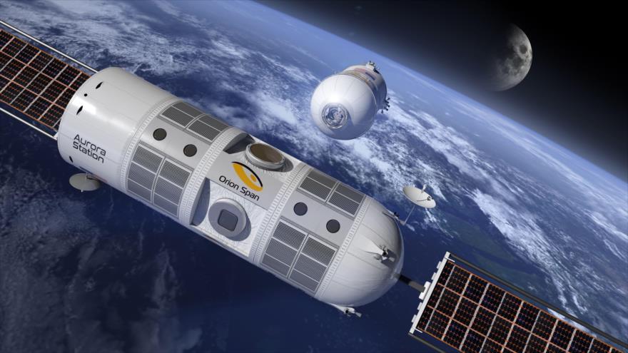 Una proyección del primer hotel espacial de lujo, que se denominará Estación Aurora.