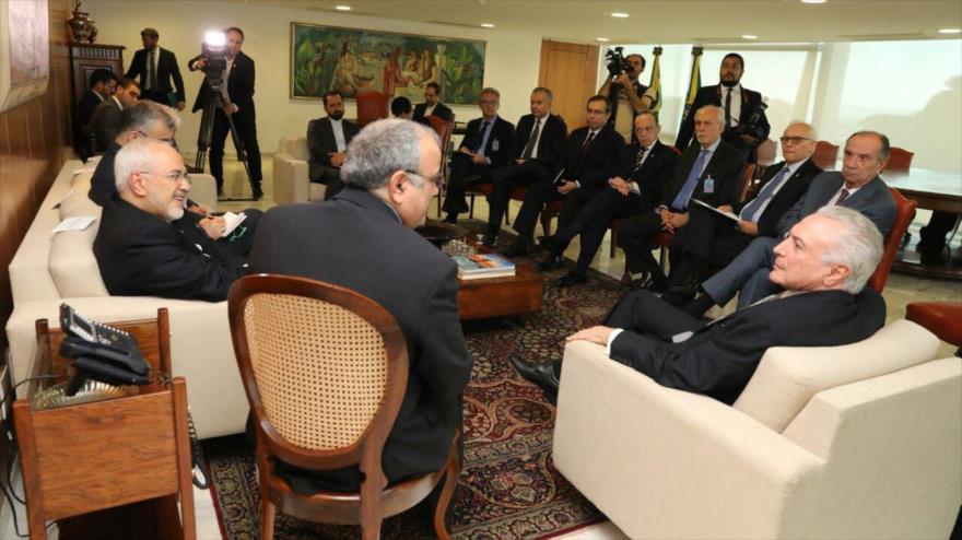 Temer ve 'fructífero' viaje de Zarif para afianzar lazos con Irán