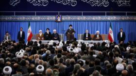 Líder de Irán tilda de 'criminales' a Trump, May y Macron