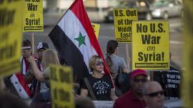 Marchas en varias ciudades de EEUU condenan ataques a Siria