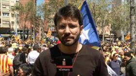 Catalanes exigen libertad de presos políticos