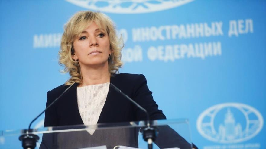 La portavoz del Ministerio ruso de Asuntos Exteriores, María Zajárova, en una imagen de archivo.