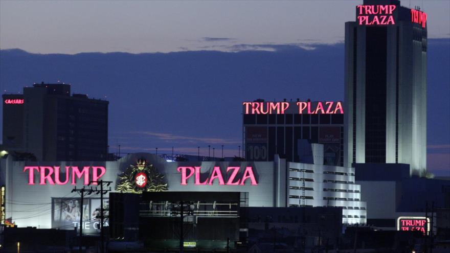 Trump Plaza, un hotel y casino en Atlantic City (Nueva Jersey, EE.UU.).