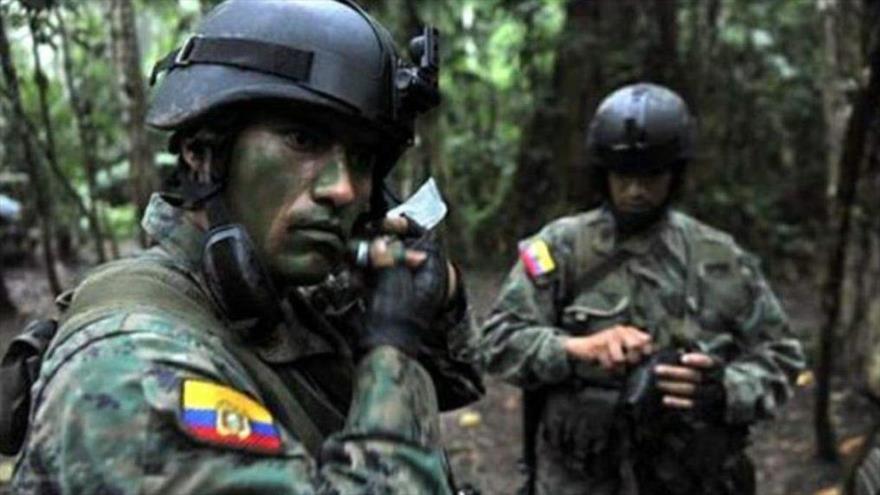 Soldados del Ejército de Ecuador.