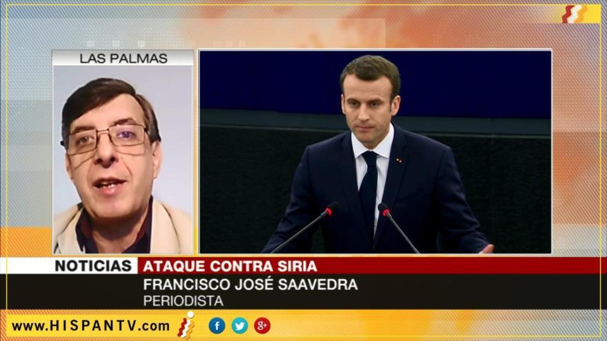 'Emmanuel Macron falsea la realidad sobre ataques contra Siria'