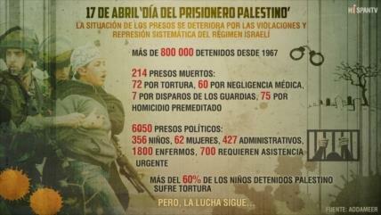 'Día del Prisionero Palestino', 800 000 detenidos y 214 presos muertos
