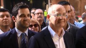 60 alcaldes valencianos protestan ante Hacienda en Madrid