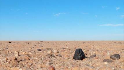 Hallan en Sudán meteorito de un planeta perdido