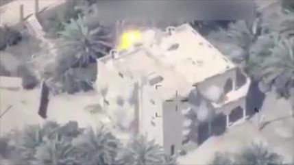 Vídeo: Ataque aéreo iraquí arrasa base de Daesh en este de Siria