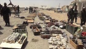 Siria halla armas estadounidenses de terroristas en Al-Qalamun