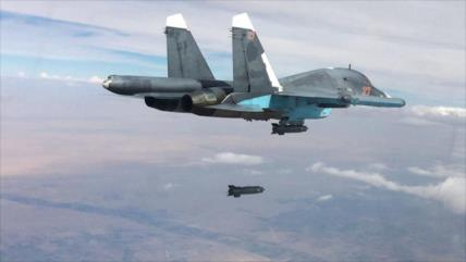 Vídeo: Aviación rusa ataca a Daesh en el sur de Damasco, Siria
